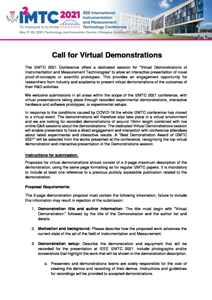 thumbnail of I2MTC 2021 Call for Live Demos – v3 – online event